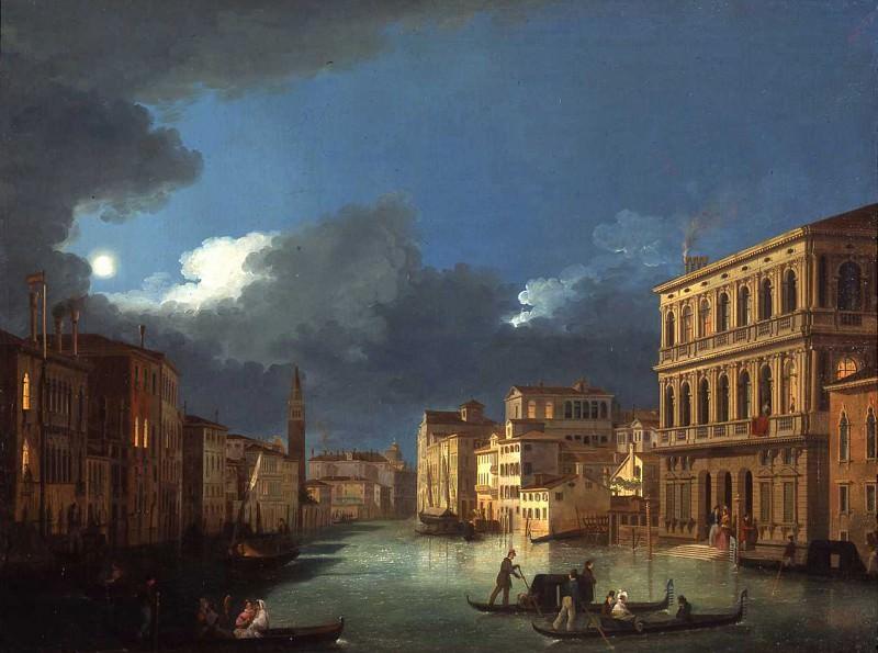 Giuseppe Bernardino Bison View of the Grand Canal by Moonlight 16797 203. часть 2 -- European art Европейская живопись
