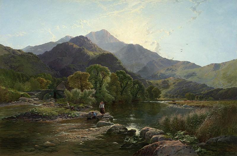 Боддингтон, Генри Джон - На холмах Северного Уэльса. часть 2 - европейского искусства Европейская живопись