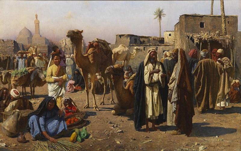 Franz Xaver Kosler An Arab Market Scene 120647 3606. часть 2 -- European art Европейская живопись