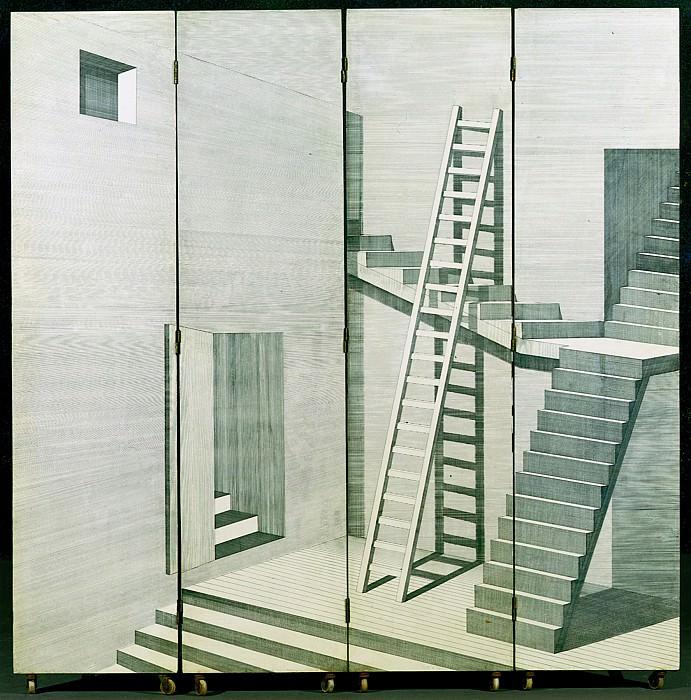 Edition Fornasetti An Architectural Screen 27098 1945. часть 2 -- European art Европейская живопись