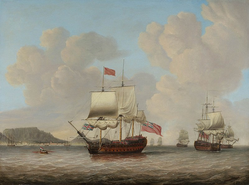 Dominic Serres A Royal Navy squadron off Table Bay 100199 20. часть 2 -- European art Европейская живопись