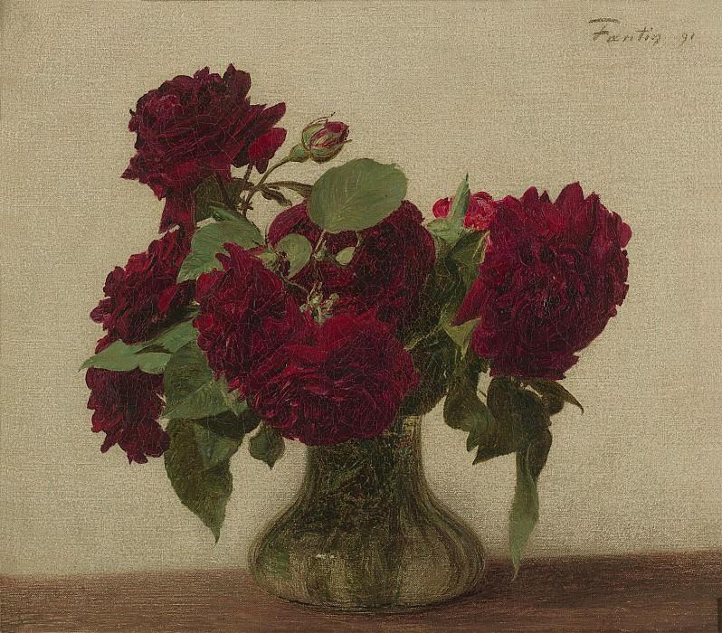 Henri Fantin Latour Roses Foncees 98139 20. часть 2 -- European art Европейская живопись