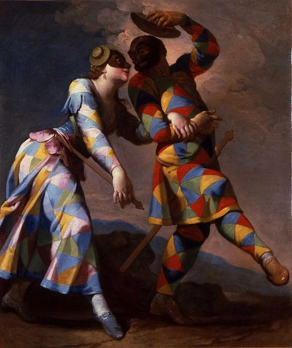 Giovanni Domenico Ferretti Harlequin and his Lady 16965 203. часть 2 -- European art Европейская живопись