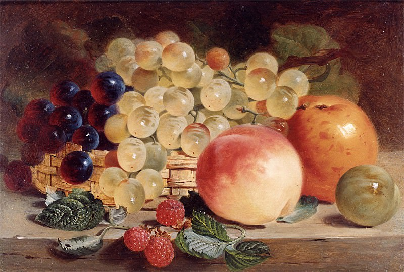 George Lance Still Life with Fruit on a Table 12137 2426. часть 2 -- European art Европейская живопись