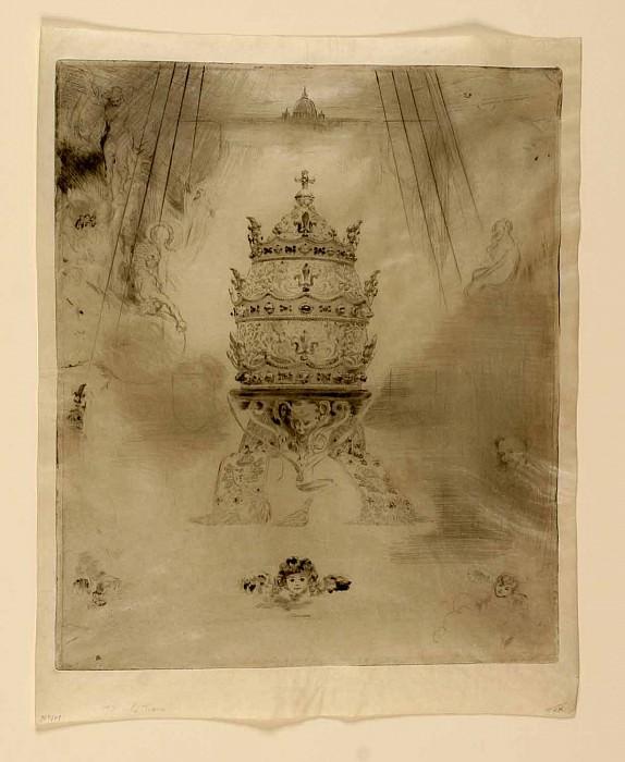 Felix Buhot La Tiare Pontifical – The Papal Crown 1888 122959 1124. часть 2 -- European art Европейская живопись