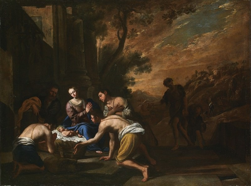 Domenico Gargiulo dit Micco Spadaro Adoration of the Shepherds 27778 203. часть 2 -- European art Европейская живопись