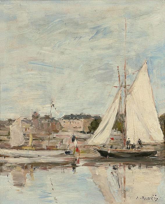 Eugene Boudin Trouville voiliers dans le Port. часть 2 -- European art Европейская живопись