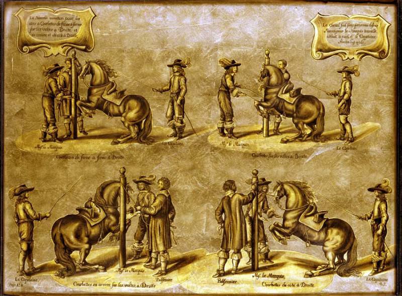 FLEMISH mid seventeenth century After Jansz Abraham van Diepenbeeck MГ©thode et invention nouvelle de dresser les chevaux Plate 23 Page 132 33073 1765. часть 2 - европейского искусства Европейская живопись
