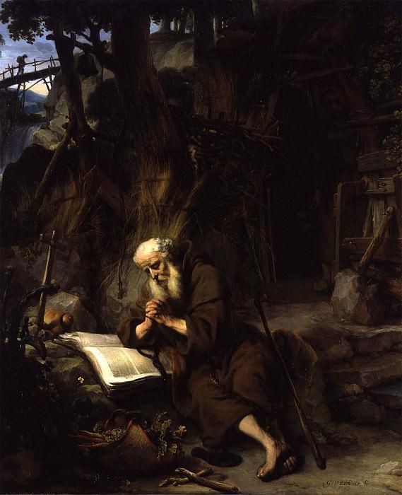GERBRAND VAN DEN EECKHOUT A Hermit praying. часть 2 -- European art Европейская живопись