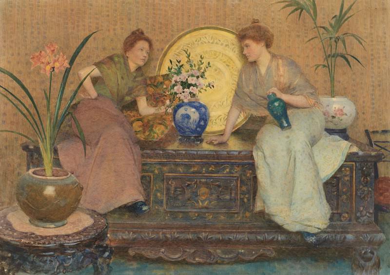 Hector CAFFIERI Sharing a Secret 87399 121. часть 2 -- European art Европейская живопись