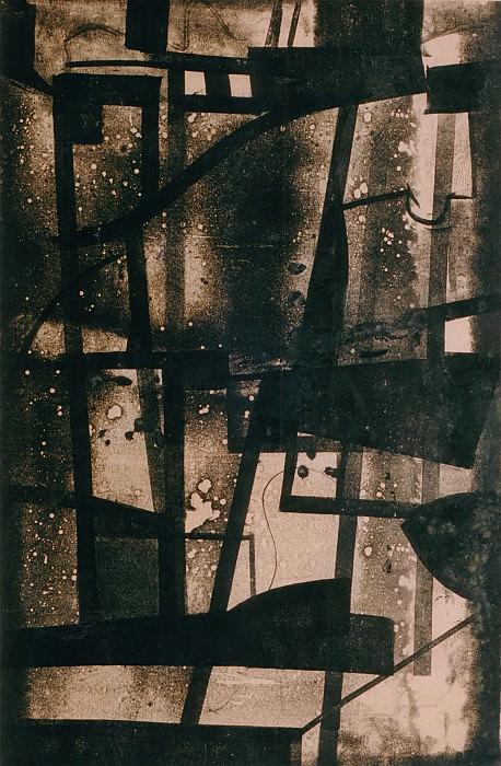 """GEORGES FOLMER Dessin monotype В"""" noir В"""" 30217 1184. часть 2 -- European art Европейская живопись"""