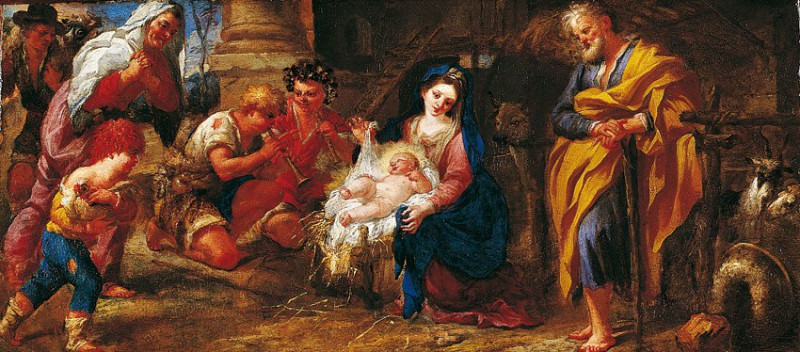 Domenico Piola The Adoration of the Shepherds 16729 203. часть 2 -- European art Европейская живопись