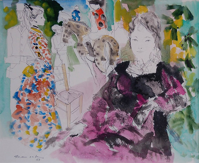 Emilio Grau Sala Femmes et Cavalier 4561 1184. часть 2 -- European art Европейская живопись