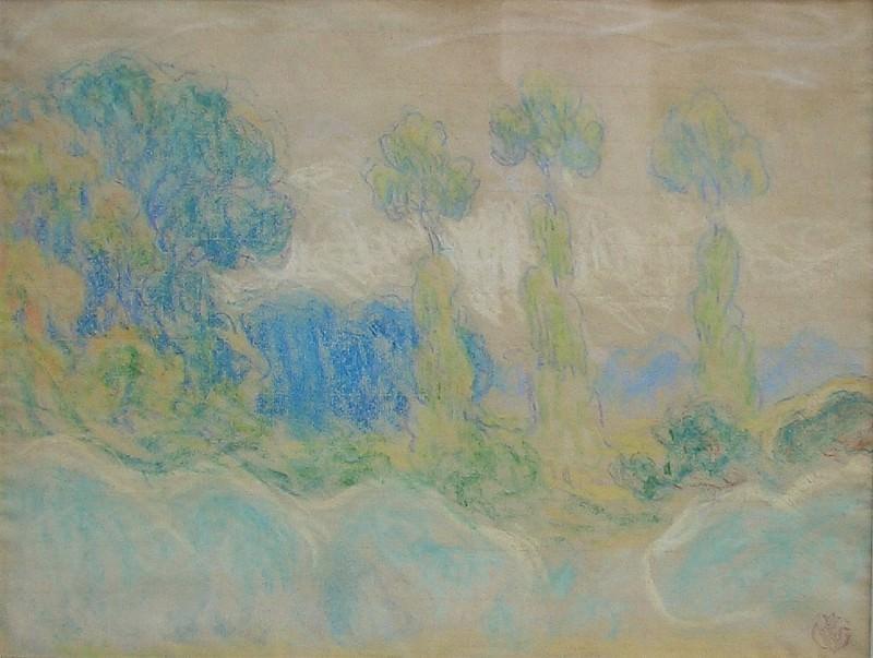 Emile SCHUFFENECKER Peupliers en Bretagne 36713 3449. часть 2 - европейского искусства Европейская живопись