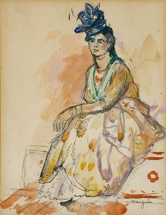 Henri MANGUIN Antillaise au turban bleu 83139 3449. часть 2 -- European art Европейская живопись