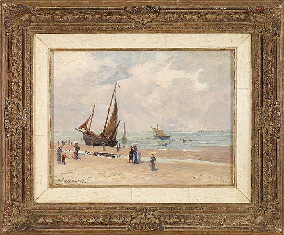 Emile Berchmans At the Beach 37496 121. часть 2 -- European art Европейская живопись