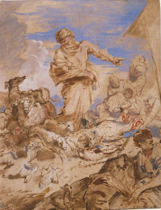 GIOVANNI BENEDETTO CASTIGLIONE Noah guiding the Animals into the Ark 33016 1765. часть 2 -- European art Европейская живопись