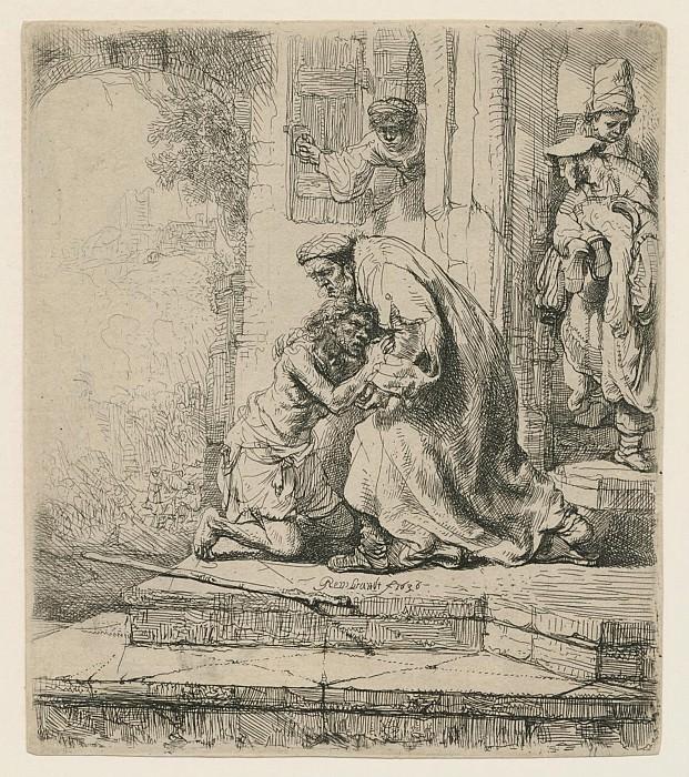 Harmensz van Rijn Rembrandt The Return of the Prodigal Son 1636 122241 1124. часть 2 - европейского искусства Европейская живопись