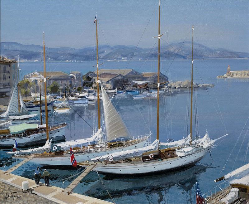 Gabriel Deschamps The Harbour at St Tropez 26108 2426. часть 2 -- European art Европейская живопись