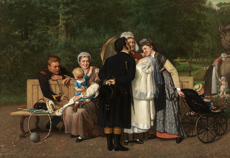Frans DE WILDE The new Member of the Family 90023 121. часть 2 - европейского искусства Европейская живопись