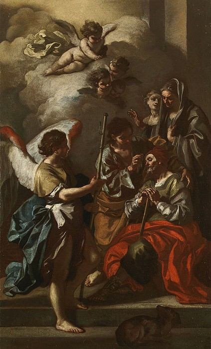 Francesco Solimena The Healing of Tobit 27795 203. часть 2 -- European art Европейская живопись