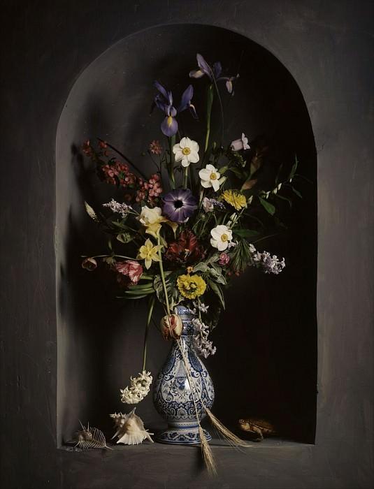 Guido Mocafico Bouquet de fleurs dans une niche 89528 172. часть 2 -- European art Европейская живопись
