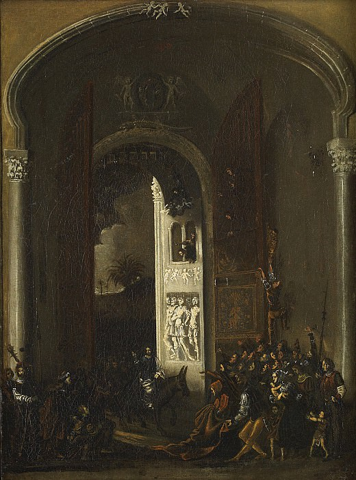 FranГ§ois de NomГ© Christs Entry into Jerusalem 27775 203. часть 2 -- European art Европейская живопись