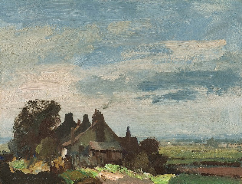 Edward Seago Cottages near Martham 30201 20. часть 2 -- European art Европейская живопись