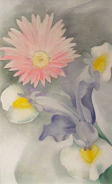 GEORGIA OKEEFFE Pink Daisy with Iris 122306 1184. часть 2 -- European art Европейская живопись