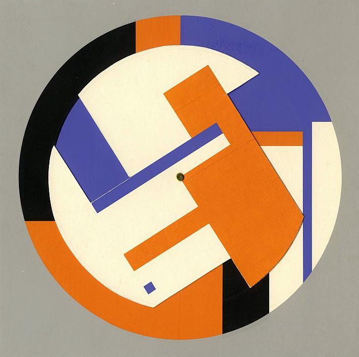 GEORGES FOLMER Roto peinture bleu et orange 71299 1184. часть 2 -- European art Европейская живопись