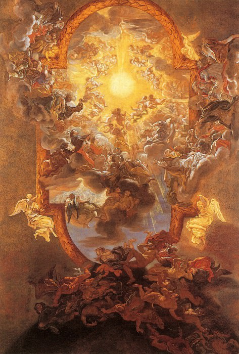 Giovanni Battista Gaulli called Il Baciccio The Triumph of the Name of Jesus. часть 2 -- European art Европейская живопись