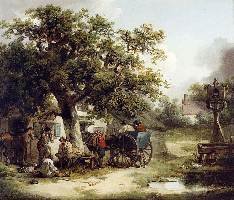 George Morland The Bell Inn Kilburn 12175 2426. часть 2 -- European art Европейская живопись