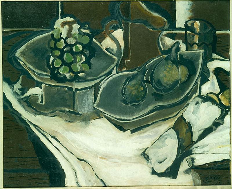 Georges BRAQUE Nature morte Г la serviette. часть 2 -- European art Европейская живопись