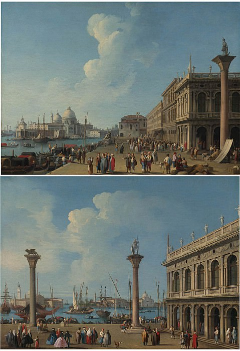 Giovanni Battista Cimaroli A view from the Piazetta Venice A view of the Molo Venice. часть 2 -- European art Европейская живопись