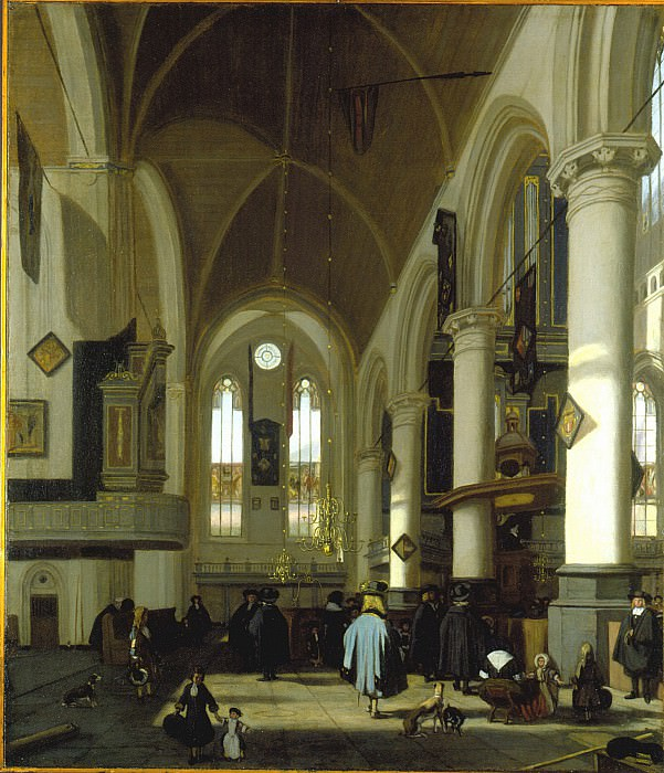 Emanuel de Witte The Interior of the Oude Kerk Amsterdam 27601 276. часть 2 -- European art Европейская живопись