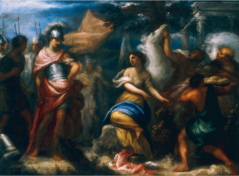 Francesco Botti Abigail bringing gifts to David 18045 203. часть 2 -- European art Европейская живопись