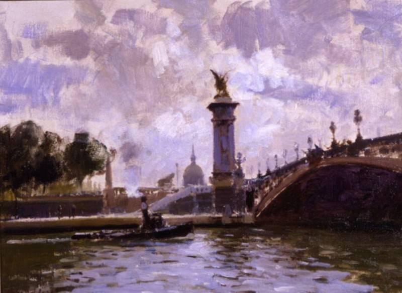 Edward Seago Pont Alexandre III Paris 17780 172. часть 2 -- European art Европейская живопись