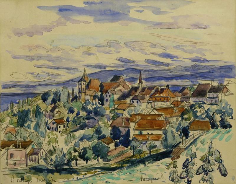 Henri MANGUIN Le village Colombier 122562 3449. часть 2 - европейского искусства Европейская живопись