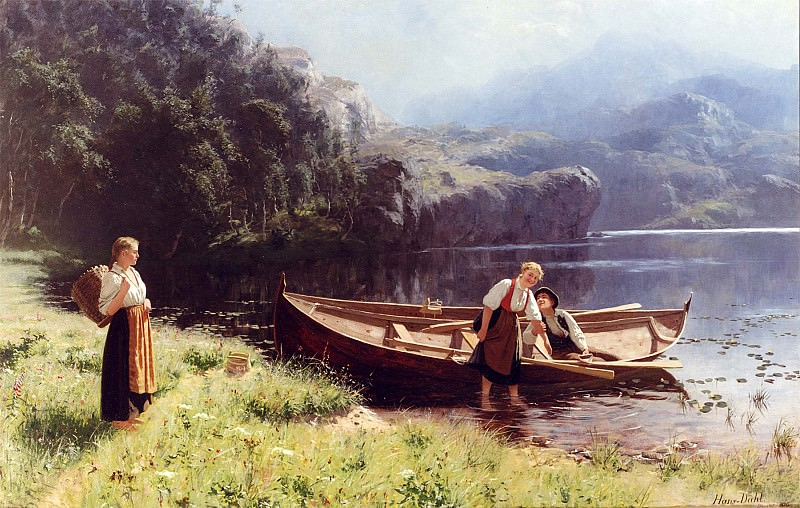 Hans Dahl By the Waters Edge. часть 2 -- European art Европейская живопись