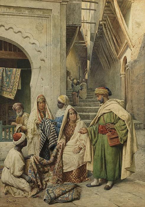 Filippo Bartolini Visiting the Carpet Vendor 91739 3606. часть 2 - европейского искусства Европейская живопись