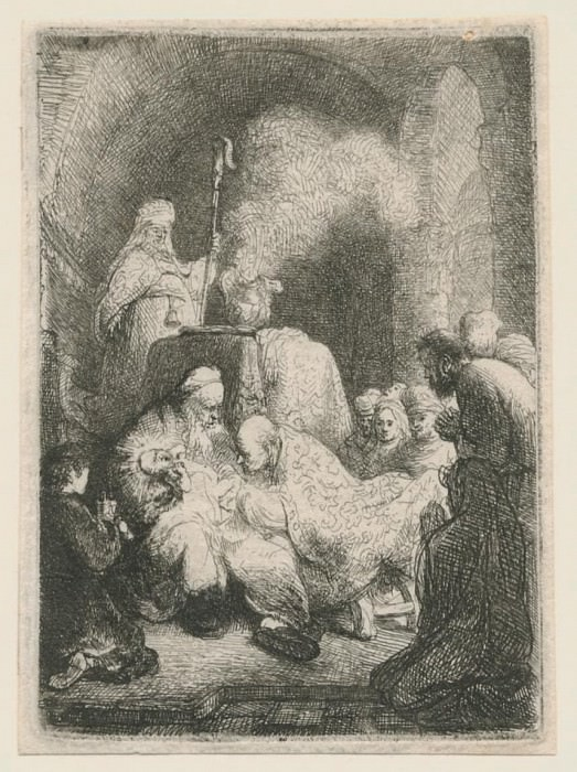 Harmensz van Rijn Rembrandt The Circumcision Small Plate 1630 122239 1124. часть 2 -- European art Европейская живопись