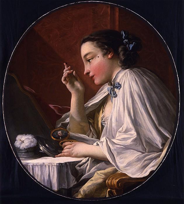 FranГ§ois Boucher Une Dame Г sa Toilette A Lady applying a Beauty spot 18339 172. часть 2 -- European art Европейская живопись