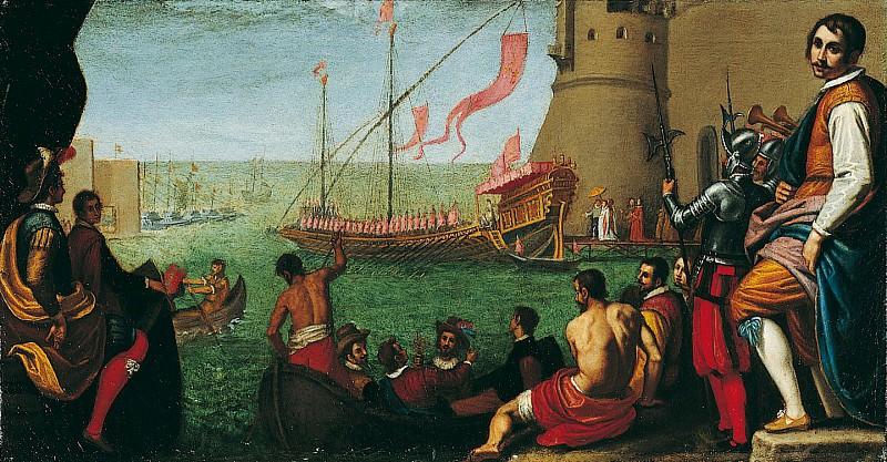 Domenico Cresti called Domenico Passignano The Embarkation of Maria de Medici at Livorno 16725 203. часть 2 -- European art Европейская живопись