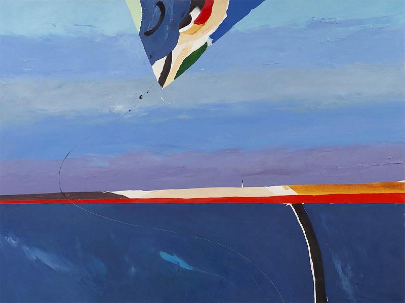 Donald Hamilton Fraser Blue landscape with foreground kite. часть 2 -- European art Европейская живопись