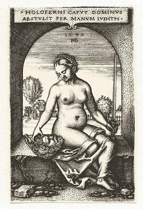 Hans Sebald Beham Judith Seated in an Arch 1547 122374 1124. часть 2 -- European art Европейская живопись