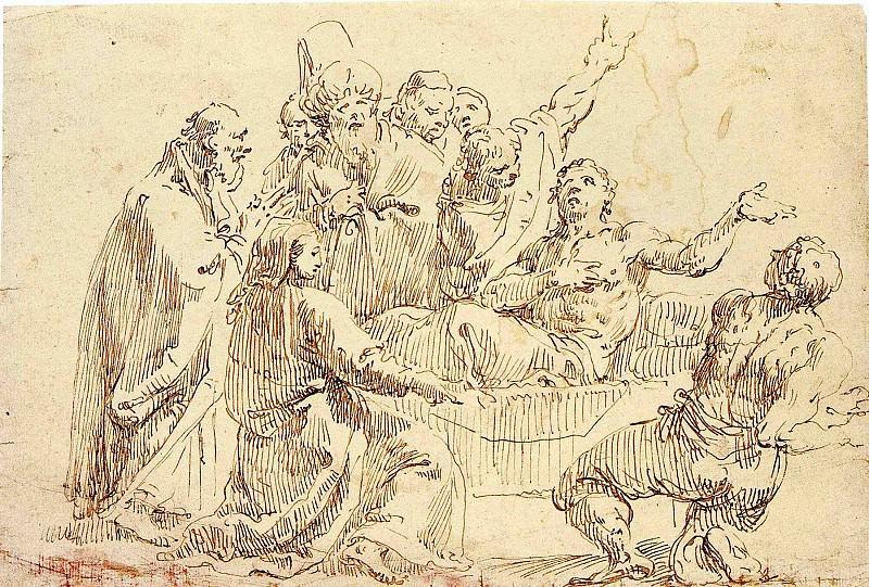 FRANCESCO FONTEBASSO Antiochus and Stratonice 11600 172. часть 2 -- European art Европейская живопись