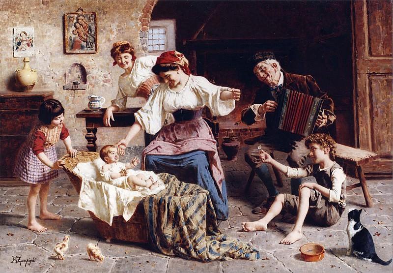 Eugenio Zampighi The Centre of Attention 12445 2426. часть 2 -- European art Европейская живопись