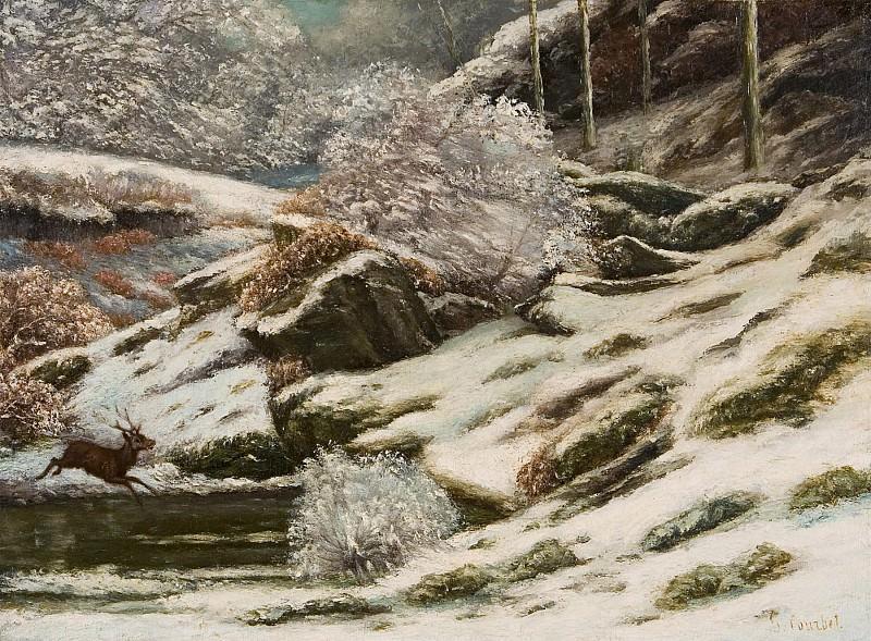 GUSTAVE COURBET Paysage dhiver 1869. часть 2 -- European art Европейская живопись