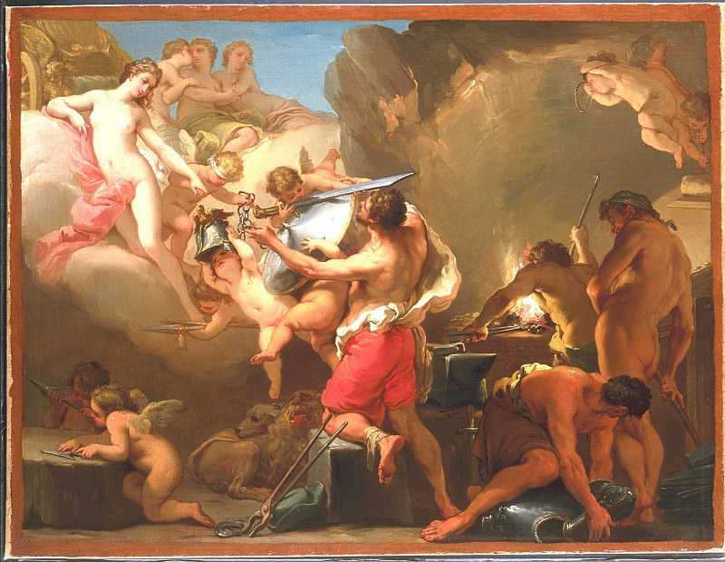 "GAETANO GANDOLFI ""Venus in Vulcan's forge"". часть 2 -- European art Европейская живопись"