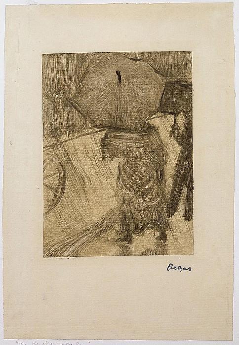 Edgar Degas On the Street in the Rain 58359 1124. часть 2 -- European art Европейская живопись